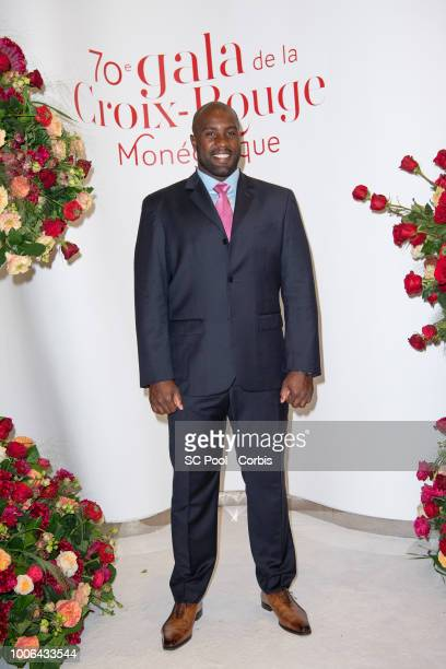 Teddy Riner attends the 70th Monaco Red Cross Ball Gala on July 27 2018 in MonteCarlo Monaco