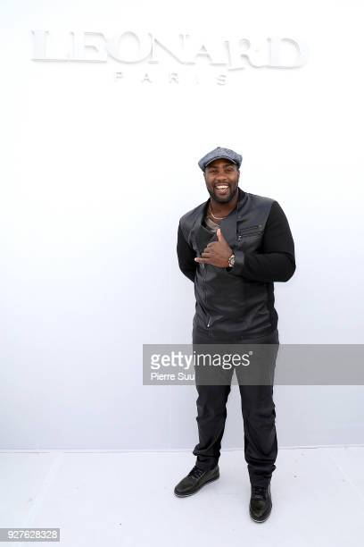 Teddy Riner attends the Leonard Paris show as part of the Paris Fashion Week Womenswear Fall/Winter 2018/2019 on March 5 2018 in Paris France
