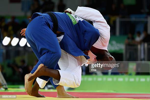 Teddy Riner of France competes against Or Sasson of Israel during the Men's 100kg Judo contest on Day 7 of the Rio 2016 Olympic Games at Carioca...
