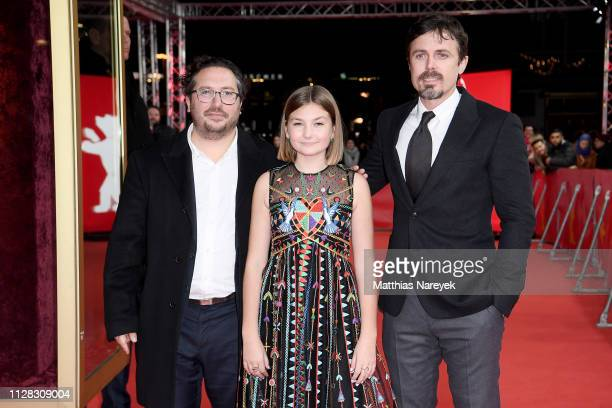 Teddy Schwarzman Anna Pniowsky and Casey Affleck attend the Light Of My Life premiere during the 69th Berlinale International Film Festival Berlin at...