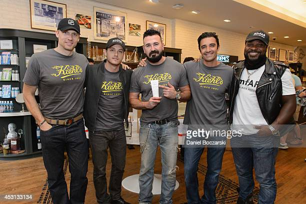 Teddy Sears Jesse Lee Soffer President of Kiehl's USA Chris Salgardo Gilles Marini and MalcolmJamal Warner attend the Kiehl's LifeRide 2014 at...