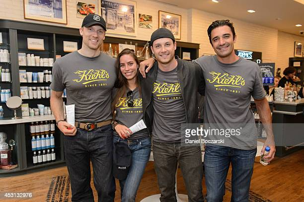 Teddy Sears Melissa Sears Jesse Lee Soffer and Gilles Marini attend the Kiehl's LifeRide 2014 at Kiehl's Since 1851 Chicago on August 3 2014 in...