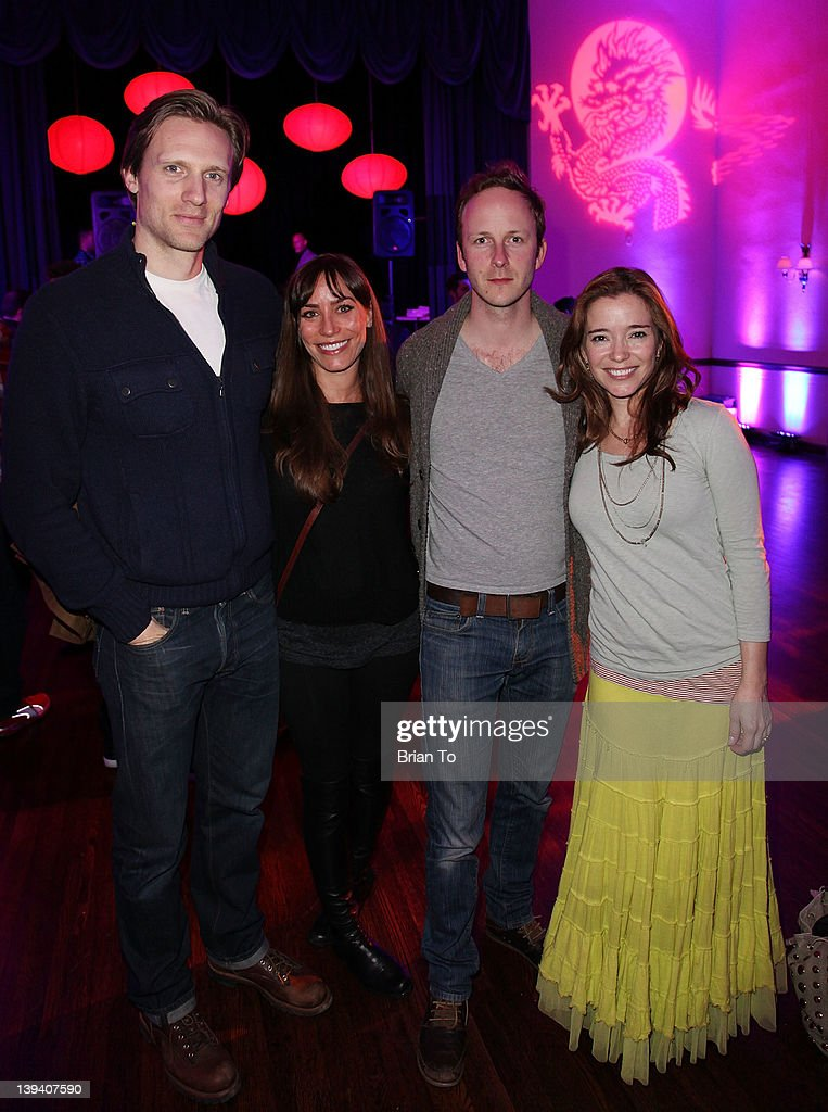 Teddy Sears, Melissa Skoro, Christopher Redman, and Marguerite Moreau attend 2nd Annual Hollywood Rush Benefiting the Baby Dragon Fund - Inside at The Wilshire Ebell Theatre on February 19, 2012 in Los Angeles, California.