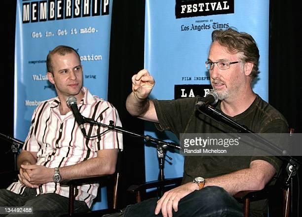 Teddy Shapiro and Alex Wurman during Los Angeles Film Festival BMI Composers Coffee Talk in Los Angeles, California, United States.