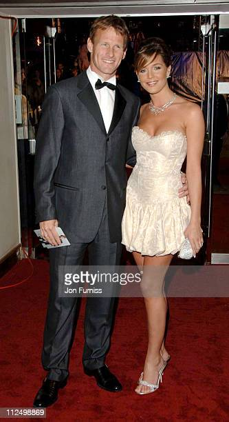 Teddy Sheringham and Danielle Lloyd during Casino Royale World Premiere Inside Arrivals at Odeon Leicester Square in London Great Britain