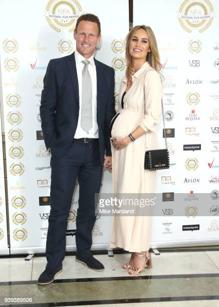 Teddy Sheringham and Kristina Andrioti attend the National Film Awards UK at Portchester House on March 28 2018 in London England