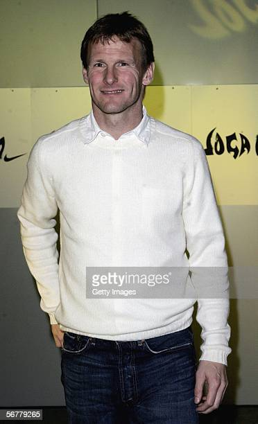 Teddy Sheringham arrives at the launch of Nike's 'Joga Bonito' at the Truman Brewery on February 7 2006 in London England Wayne Rooney Rio Ferdinand...