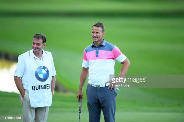 Teddy Sheringham looks on during the BMW PGA Championship ProAm at Wentworth Golf Club on September 18 2019 in Virginia Water United Kingdom