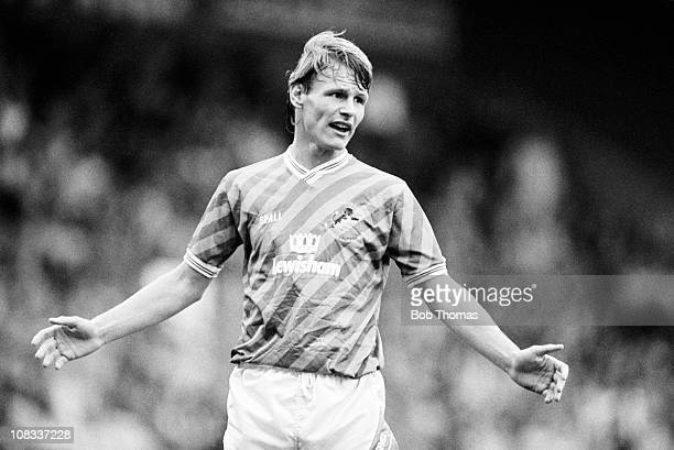 Teddy Sheringham of Millwall during the Norwich City v Millwall Division 2 match played at Carrow Road Norwich on the 24th September 1988 The match...