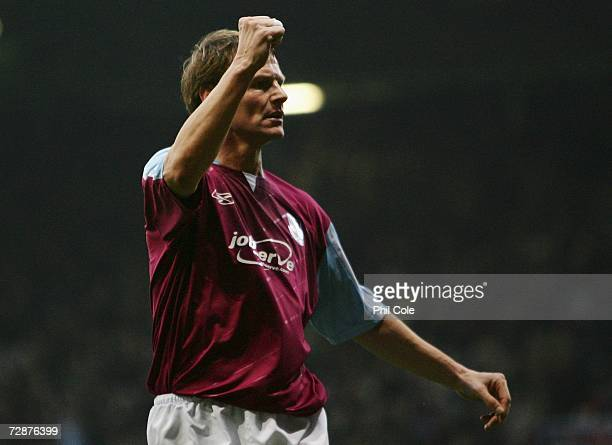Teddy Sheringham of West Ham United celebrates scoring during the Barclays Premiership match between West Ham United and Portsmouth at Upton Park on...
