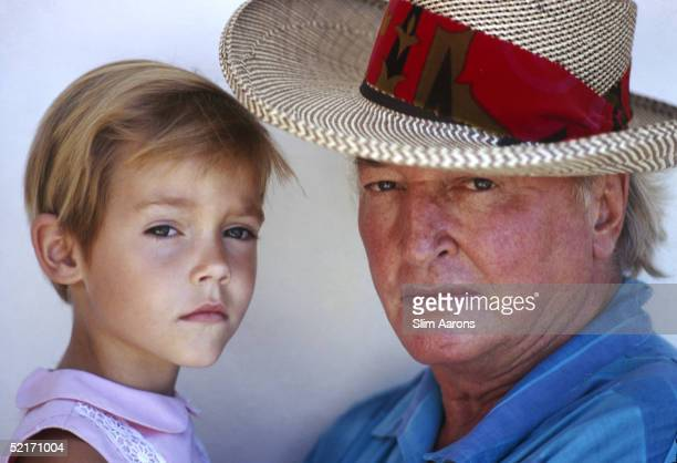 Teddy Stauffer with his daughter Melinda Morgan in Acapulco January 1968