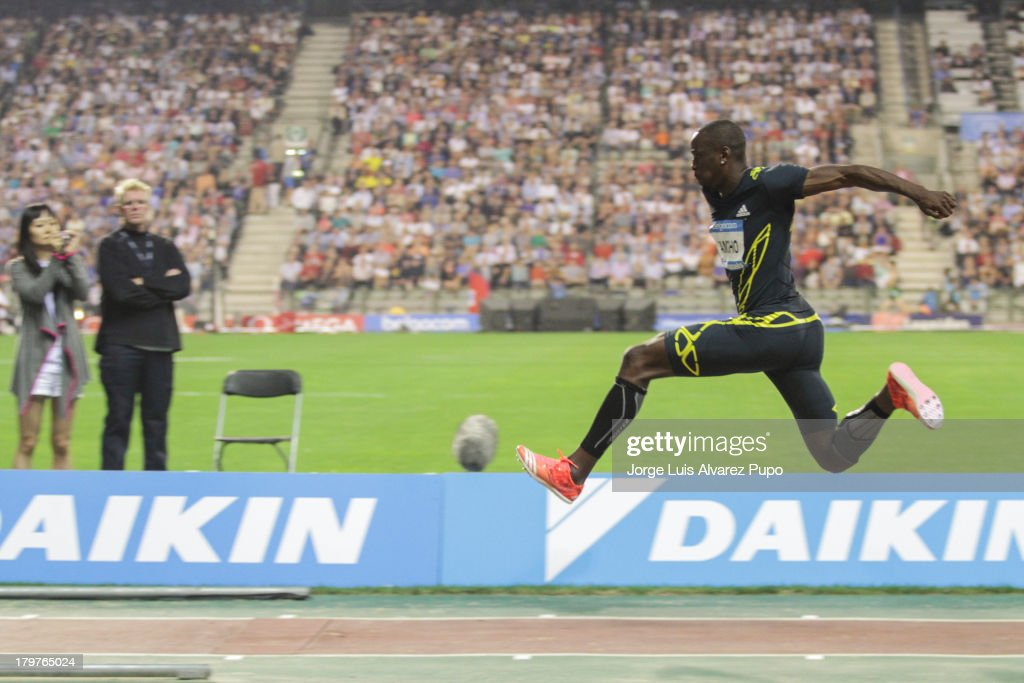 Teddy Tambgo (FRA) jumps during the Men's Triple Jump final in the 2013 Belgacom Memorial Van Damme -IAAF Diamond League on September 6, 2013 in Brussels, Belgium.