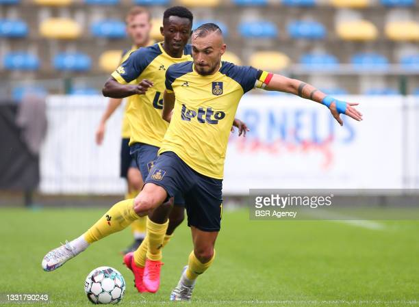 Teddy Teuma of Union Saint-Gilloise during the Jupiler Pro League match between Union Saint Gilloise and Club Brugge at Joseph Marien Stadion on...