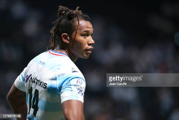 Teddy Thomas of Racing 92 during the Heineken Champions Cup Semi Final match between Racing 92 and Saracens at Paris La Defense Arena on September 26...