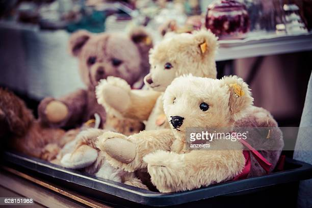 Teddybears at a flea market