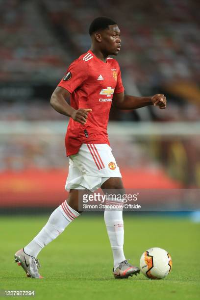 Teden Mengi of Man Utd during the UEFA Europa League round of 16 second leg match between Manchester United and LASK at Old Trafford on March 19 2020...