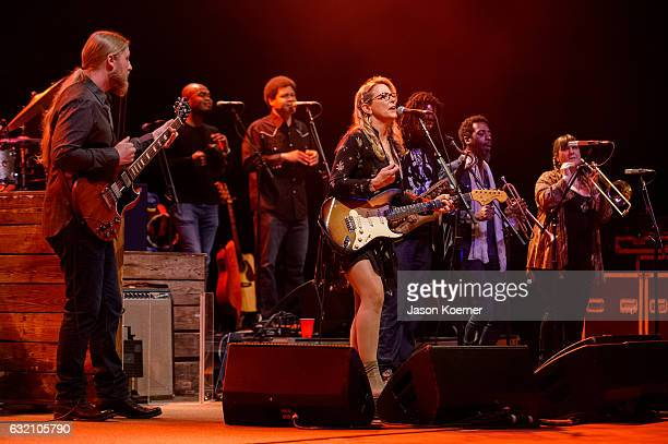 Tedeschi Trucks Band performs on stage at Mizner Park Amphitheater on January 15 2017 in Boca Raton Florida