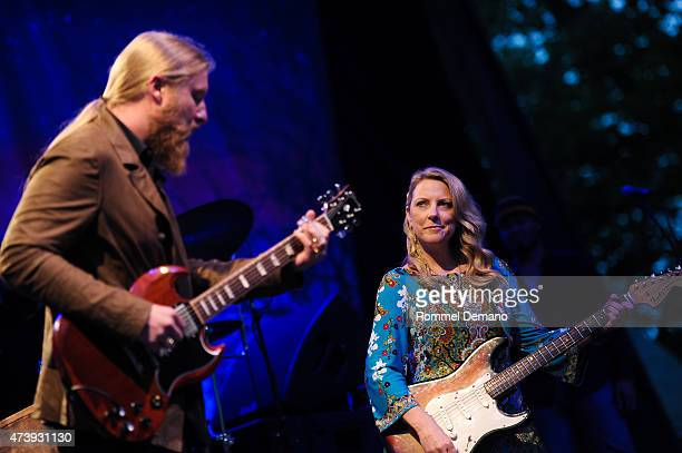 Tedeschi Trucks Band performs the 2015 Central Park Summerstage Tedeschi Trucks Band With Spirit Family Reunion at Rumsey Playfield Central Park on...