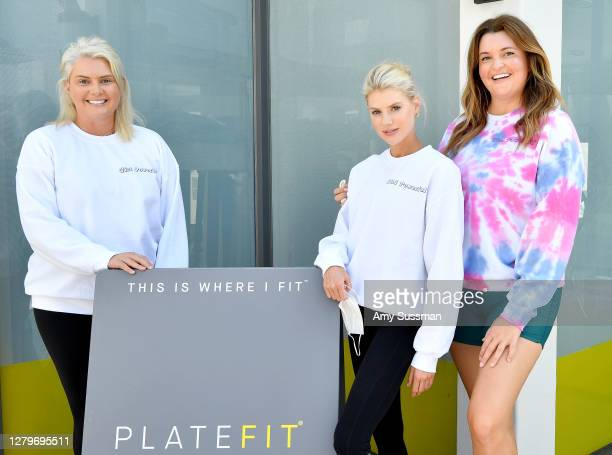 Tedi Serge, Charlotte McKinney, and Sonya Serge attend the International Day of the Girl fundraiser class with special guest Charlotte McKinney,...