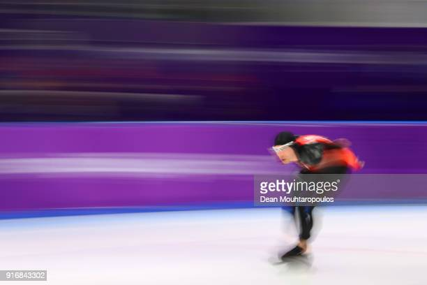 TedJan Bloemen of Canada competes during the Men's 5000m Speed Skating event on day two of the PyeongChang 2018 Winter Olympic Games at Gangneung...