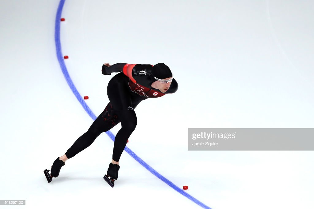 Ted-Jan Bloemen of Canada competes during the Speed Skating Men's 10,000m on day six of the PyeongChang 2018 Winter Olympic Games at Gangneung Oval on February 15, 2018 in Gangneung, South Korea.