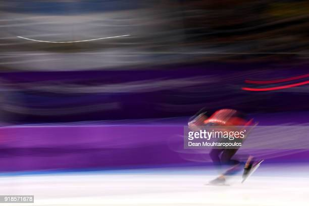 Ted-Jan Bloemen of Canada competes during the Speed Skating Men's 10,000m on day six of the PyeongChang 2018 Winter Olympic Games at Gangneung Oval...