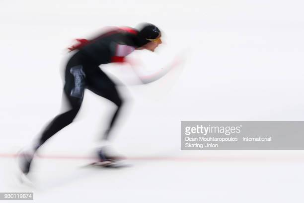 TedJan Bloemen of Canada competes in the 500m Men race during the World Allround Speed Skating Championships at the Olympic Stadium on March 10 2018...