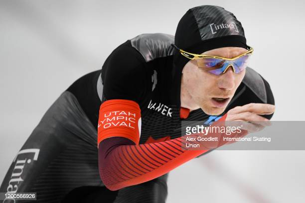 TedJan Bloemen of Canada competes in the men's 5000 meter during the ISU World Single Distances Speed Skating Championships on February 13 2020 in...