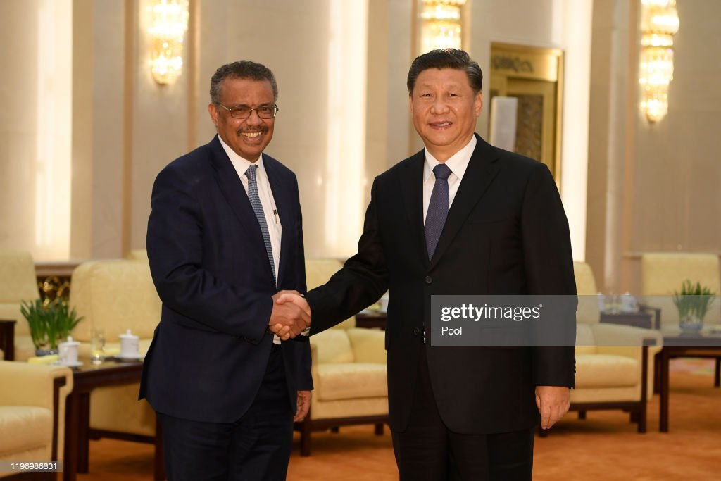 Director General Of The World Health Organization, Tedros Adhanom, Visit To Beijing : News Photo