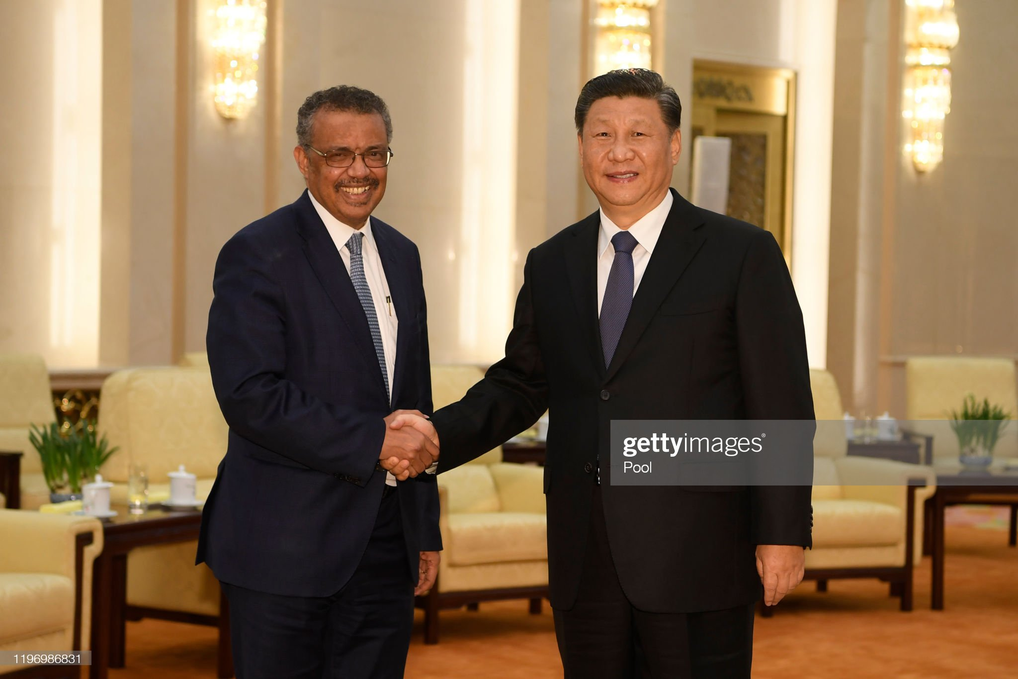 Director General Of The World Health Organization, Tedros Adhanom, Visit To Beijing : News Photo