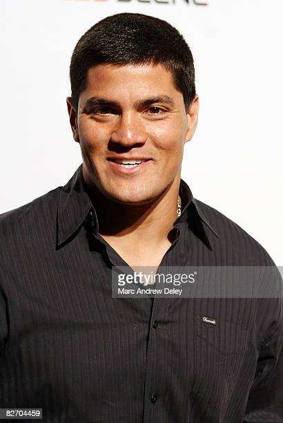 Tedy Bruschi of the New England Patriots attends the grand opening of the CBS Scene Restaurant Bar at Patriot Place on September 6 2008 in Foxboro...