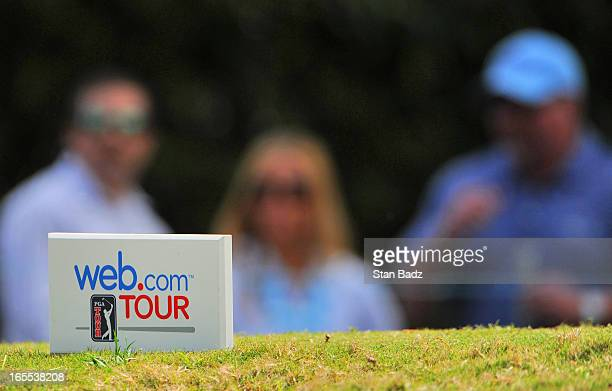 A tee box marker is seen on the fifth hole during the first round of the Chitimacha Louisiana Open at Le Triomphe Country Club on March 21 2013 in...