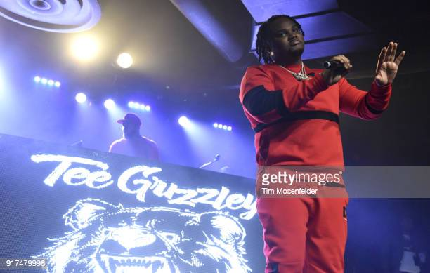 Tee Grizzley performs during the 'Cold Summer Tour' at Ace of Spades on February 11 2018 in Sacramento California