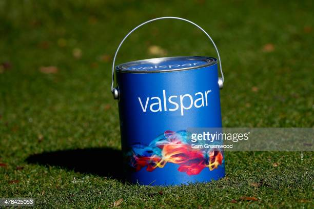 Tee marker as seen on the 9th tee box during the first round of the Valspar Championship at Innisbrook Resort and Golf Club on March 13, 2014 in Palm...