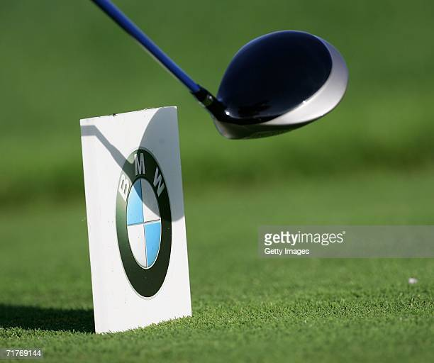 A tee marker during the second round of The BMW International Open Golf at The Munich North Eichenried Golf Club on September 1 in Munich Germany