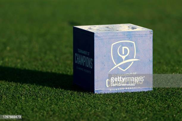 Tee marker is seen during the first round of the Diamond Resorts Tournament Of Champions at Tranquilo Golf Course at the Four Seasons Golf and Sports...