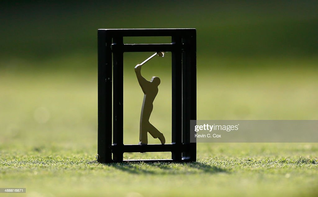 A tee marker is seen during the first round of THE PLAYERS Championship on The Stadium Course at TPC Sawgrass on May 8, 2014 in Ponte Vedra Beach, Florida.