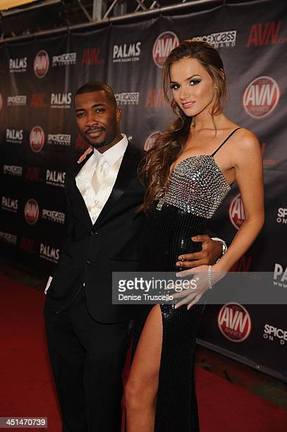Tee Reel and Tori Black arrives at the 2010 AVN Awards at the Pearl at The Palms Casino Resort on January 9 2010 in Las Vegas Nevada