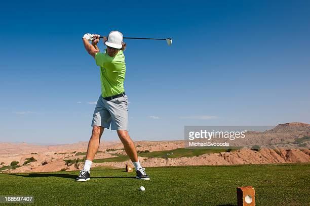 t シャツのショット - ゴルフのスウィング ストックフォトと画像