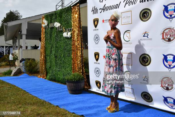 Tee Wright appears at Grandiosity Events 4th annual Polo & Jazz celebrity charity benefit hosted by Real Housewives of Potomac's Karen Huger, Susan...
