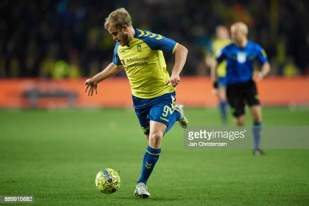 Teemu Pukki of Brondby IF in action during the Danish Alka Superliga match between Brondby IF and AGF Arhus at Brondby Stadion on December 10 2017 in...