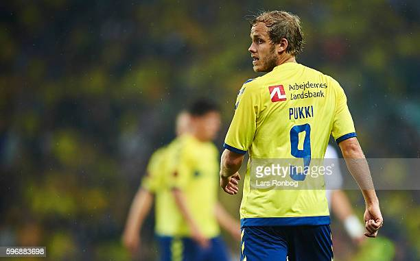 Teemu Pukki of Brondby IF looks on during the Danish Alka Superliga match between Brondby IF and FC Copenhagen at Brondby Stadion on August 28 2016...