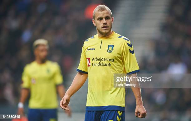 Teemu Pukki of Brondby IF looks on during the Danish Alka Superliga match between FC Copenhagen and Brondby IF at Telia Parken Stadium on February 19...