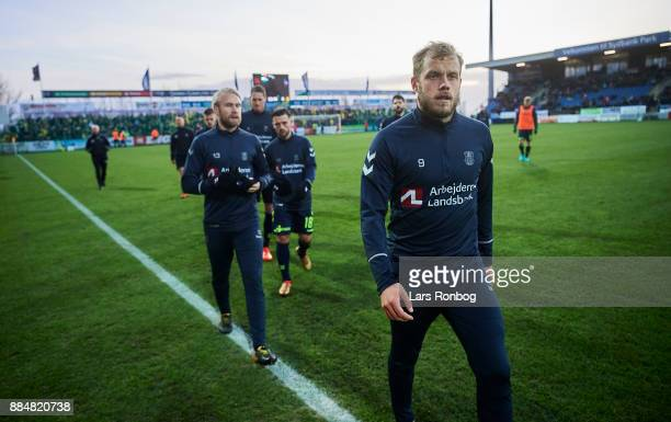 Teemu Pukki of Brondby IF on the pitch prior to the Danish Alka Superliga match between Sonderjyske and Brondby IF at Sydbank Park on December 3 2017...
