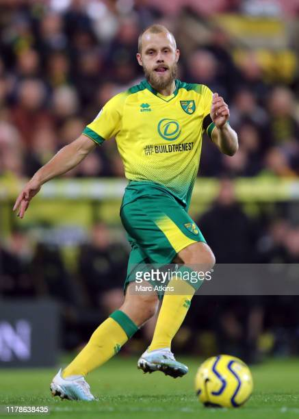 Teemu Pukki of Norwich City during the Premier League match between Norwich City and Manchester United at Carrow Road on October 27, 2019 in Norwich,...