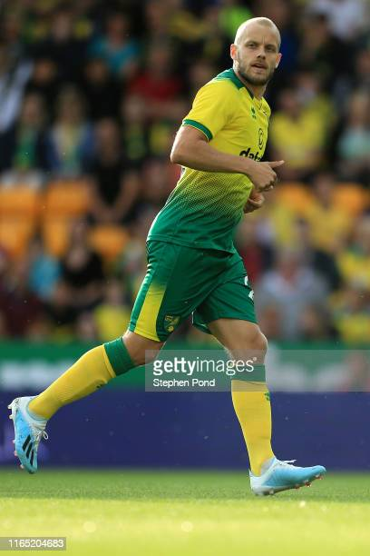 Teemu Pukki of Norwich City during the pre-season Friendly match between Norwich City and Atalanta at Carrow Road on July 30, 2019 in Norwich,...