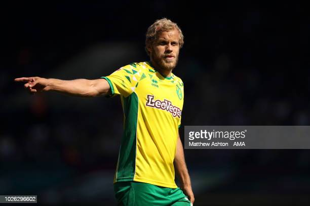 Teemu Pukki of Norwich City of Norwich City during the Sky Bet Championship match between Ipswich Town and Norwich City at Portman Road on September...