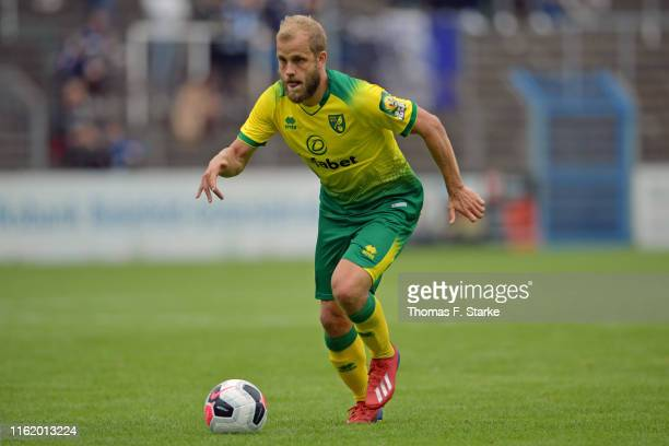 Teemu Pukki of Norwich runs with the ball during the pre-season friendly match between DSC Arminia Bielefeld and Norwich City at Energieversum...