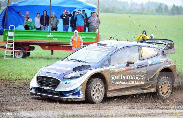 Teemu Suninen FIN Mikko Markkula FIN M Sport World Rally Team during the WRC Orlen 74 Rally Poland on June 30 2017 in Mikolajki Poland