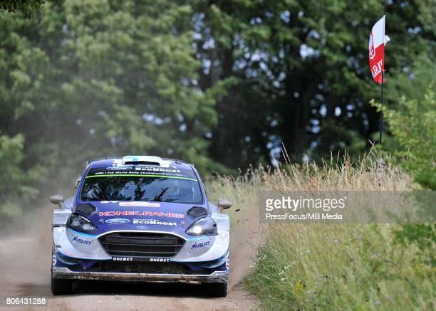 Teemu Suninen FIN Mikko Markkula FIN M Sport World Rally Team during the WRC Orlen 74 Rally Poland on July 01 2017 in Mikolajki Poland